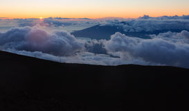 Maui Clouds at Summit Royalty Free Stock Image