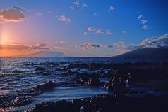 Maui dawn. Dawn on rocky Maui coast Royalty Free Stock Photography