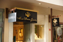 Maui Divers Jewelry Store Front. HONOLULU - AUGUST 7: Maui Divers Jewelry Store Front at Ala Moana Shopping Center, which is the states largest mall on Oahu stock images