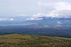 Maui, een mening van de berg stock fotografie