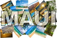 Maui föreställer collage arkivfoton