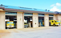 Maui firefighter station with solar panels Stock Photography