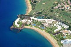 Maui från luften arkivbilder