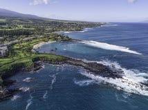 Maui Havaí na baía de Kapalua fotos de stock royalty free
