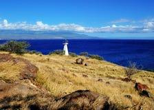 Maui, Hawaii. Littre lighthouse on the west coast, Maui, Hawaii Stock Photos