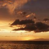 Maui hawaii sunset Obraz Stock