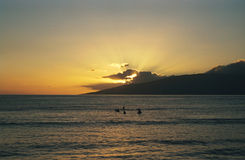 Maui hawaii sunset obrazy royalty free