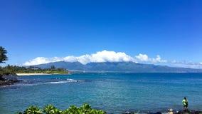 MAUI HAWAII 808 UPPEHÄLLE arkivfoto