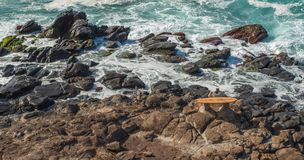 MAUI, HAWAII, USA - DECEMBER 10, 2013: memorial for surfers who Royalty Free Stock Photography