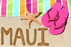 Maui, Hawaje plaży podróż Obrazy Stock