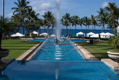 MAUI, HI - DECEMBER 15: The Grand Wailea, a Waldorf Astoria hotel, is one of several resorts in the exclusive Wailea stock images