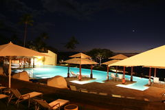 Maui Infinity Pool at Night Royalty Free Stock Image