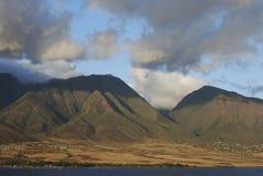 Maui Island. Sunset lighted mountains of Maui island, Hawaii Stock Photography