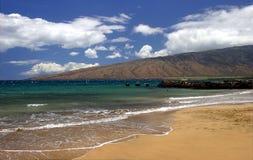 Maui Island's Coastline in Kihei, Hawaii. A view of a beach on Maui Island's coastline in Kihei, Hawaii Royalty Free Stock Images