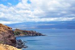 Maui-Küstenlinie lizenzfreie stockbilder