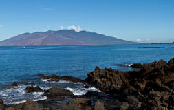 Maui Lava Beach Imagens de Stock