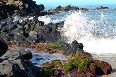 Maui Lava Beach Fotos de Stock Royalty Free