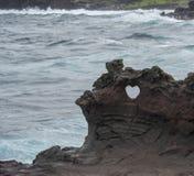 Maui lawy serce Fotografia Stock