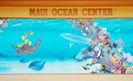Maui ocean center. Must be on one of the first place to visit in the list of parents with children ,it will be great for education and exploration of ocean life royalty free stock photo