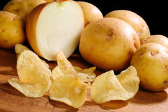 Maui onion flavor potato chips Stock Image