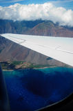 Maui Overview. Taken from a flight from Oahu to Maui Royalty Free Stock Image