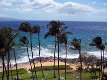 Maui Paradise. View from condo in Kihei, Maui Stock Images