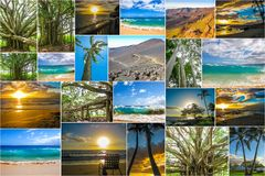 Maui pictures collage Royalty Free Stock Images