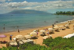 Maui Resort Beach - Hawaii Stock Photos