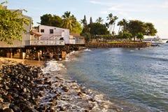 Maui's City of Lahaina Royalty Free Stock Photos