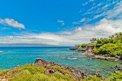 Maui's famous Kaanapali beach resort area Royalty Free Stock Photography