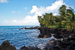 Maui's Shore at Ke'anae Beach Park Stock Photos