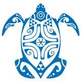Maui-Schildkröten-Tätowierungs-Motiv-Vektor vektor abbildung