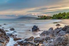 Maui sekretu plaża Przy wschodem słońca Zdjęcia Royalty Free
