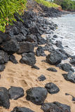 Maui Shoreline Rocks Stock Images