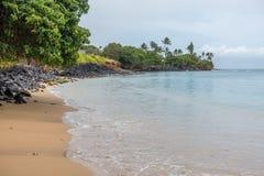 Maui Shoreline. A view of the shoreline in the Kahana area of Maui, Hawaii Royalty Free Stock Images
