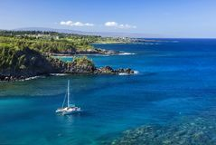 Maui Snorkling. Snorking is one of Maui, Hawaii`s biggest attractions. The image was taken around a secluded cove North of Kapalua, Hawaii Stock Photos