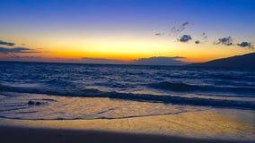 maui solnedgång Arkivbilder