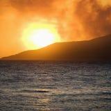 Maui-Sonnenuntergang. Lizenzfreies Stockfoto