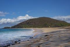 Maui stor strand royaltyfri bild