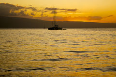 Maui Sunset Stock Photography