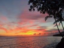 Maui sunset Stock Image
