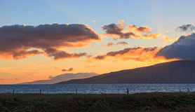 Maui Sunset Stock Image