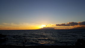 Maui sunset. Sunset over the Pacific Ocean Stock Image