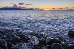 Maui Sunset at Shore Royalty Free Stock Photo