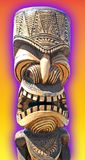 Maui Tiki. Image of hand carved tiki from Maui. Digital effect added for glowing feature Stock Photography