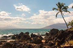 Maui-Ufer und -ozean Stockfotografie