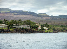 Maui Waterfront Home. Waterfront home on the coast of Maui, Hawaii Stock Photos