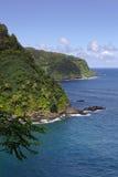 Maui wybrzeże na drodze Hana Zdjęcia Stock