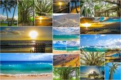 Maui wyrzucać na brzeg kolaż Zdjęcia Royalty Free