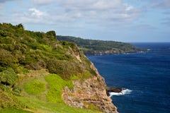 Mauis-Küste am Keanae-Strand-Park Stockbilder